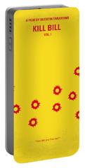 No048 My Kill Bill -part 1 Minimal Movie Poster Portable Battery Charger by Chungkong Art
