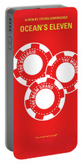 No056 My Oceans 11 Minimal Movie Poster Portable Battery Charger by Chungkong Art