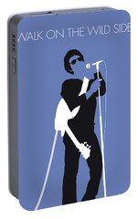 No068 My Lou Reed Minimal Music Poster Portable Battery Charger by Chungkong Art