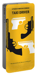 No087 My Taxi Driver Minimal Movie Poster Portable Battery Charger by Chungkong Art