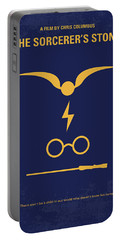 No101 My Harry Potter Minimal Movie Poster Portable Battery Charger by Chungkong Art