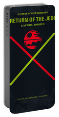 No156 My Star Wars Episode Vi Return Of The Jedi Minimal Movie Poster Portable Battery Charger by Chungkong Art