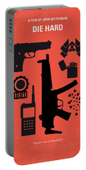 No453 My Die Hard Minimal Movie Poster Portable Battery Charger by Chungkong Art