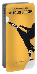 No480 My Shaolin Soccer Minimal Movie Poster Portable Battery Charger by Chungkong Art