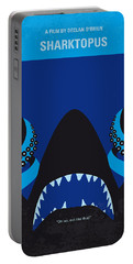 No485 My Sharktopus Minimal Movie Poster Portable Battery Charger by Chungkong Art