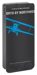 No535 My North By Northwest Minimal Movie Poster Portable Battery Charger by Chungkong Art