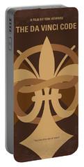 No548 My Da Vinci Code Minimal Movie Poster Portable Battery Charger by Chungkong Art