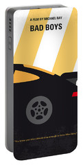 No627 My Bad Boys Minimal Movie Poster Portable Battery Charger by Chungkong Art