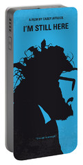 No637 My I Am Still Here Minimal Movie Poster Portable Battery Charger by Chungkong Art