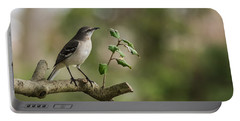 Northern Mockingbird Branch New Jersey Portable Battery Charger by Terry DeLuco