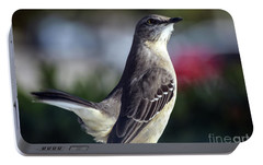 Northern Mockingbird Up Close Portable Battery Charger by William Tasker