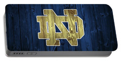 Notre Dame Barn Door Portable Battery Charger by Dan Sproul
