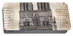 Notre Dame De Paris Portable Battery Charger by Debbie DeWitt