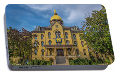 Notre Dame University Golden Dome Portable Battery Charger by David Haskett