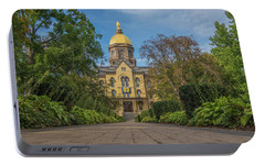 Notre Dame University Q Portable Battery Charger by David Haskett