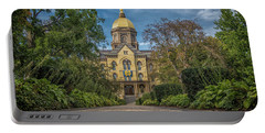 Notre Dame University Q1 Portable Battery Charger by David Haskett
