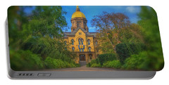 Notre Dame University Q2 Portable Battery Charger by David Haskett