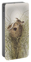 Nuttall's Lesser-marsh Wren  Portable Battery Charger by John James Audubon