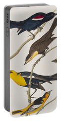 Nuttall's Starling Yellow-headed Troopial Bullock's Oriole Portable Battery Charger by John James Audubon