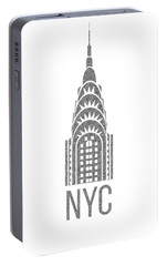 Nyc New York City Graphic Portable Battery Charger by Edward Fielding