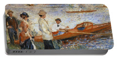 Oarsmen At Chatou Portable Battery Charger by Pierre Auguste Renoir