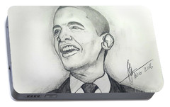 Obama 3 Portable Battery Charger by Collin A Clarke