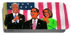 Obama's State Of The Union '10 Portable Battery Charger by Candace Lovely