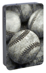 Old Baseballs Pencil Portable Battery Charger by Edward Fielding