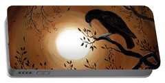 Ominous Bird Of Yore Portable Battery Charger by Laura Iverson