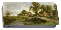 On The Thames Near Marlow Portable Battery Charger by Henry Parker