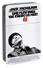 One Flew Over The Cuckoo's Nest Portable Battery Charger by Movie Poster Prints