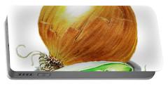 Onion And Peas Portable Battery Charger by Irina Sztukowski