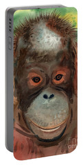 Orangutan Portable Battery Charger by Donald Maier