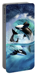Orca Wave Portable Battery Charger by Jerry LoFaro