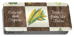 Organic Market Patch Portable Battery Charger by Debbie DeWitt