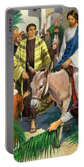 Palm Sunday Portable Battery Charger by Clive Uptton