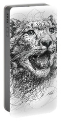 Leopard Portable Battery Charger by Michael  Volpicelli