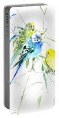 Parakeets Portable Battery Charger by Suren Nersisyan