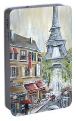 Poodle In Paris Portable Battery Charger by Marilyn Dunlap