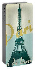 Paris City Of Light Portable Battery Charger by Mindy Sommers