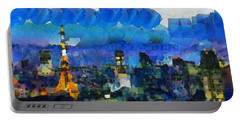 Paris Inside Tokyo Portable Battery Charger by Sir Josef Social Critic - ART