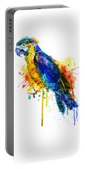 Parrot Watercolor  Portable Battery Charger by Marian Voicu