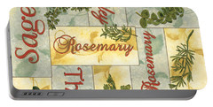 Parsley Collage Portable Battery Charger by Debbie DeWitt