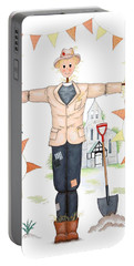 Parson Scarecrow Portable Battery Charger by Sandra Moore