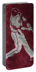 Paul Goldschmidt Arizona Diamondbacks Art Portable Battery Charger by Joe Hamilton