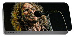 Pearl Jam Eddie Vedder Collection Portable Battery Charger by Marvin Blaine