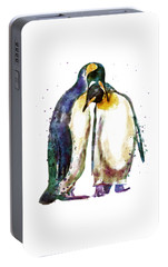 Penguin Couple Portable Battery Charger by Marian Voicu
