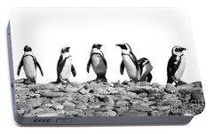 Penguins Portable Battery Charger by Delphimages Photo Creations
