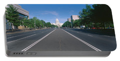 Pennsylvania Avenue, Washington Dc Portable Battery Charger by Panoramic Images
