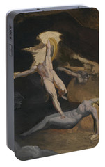 Perseus Slaying The Medusa Portable Battery Charger by Henry Fuseli